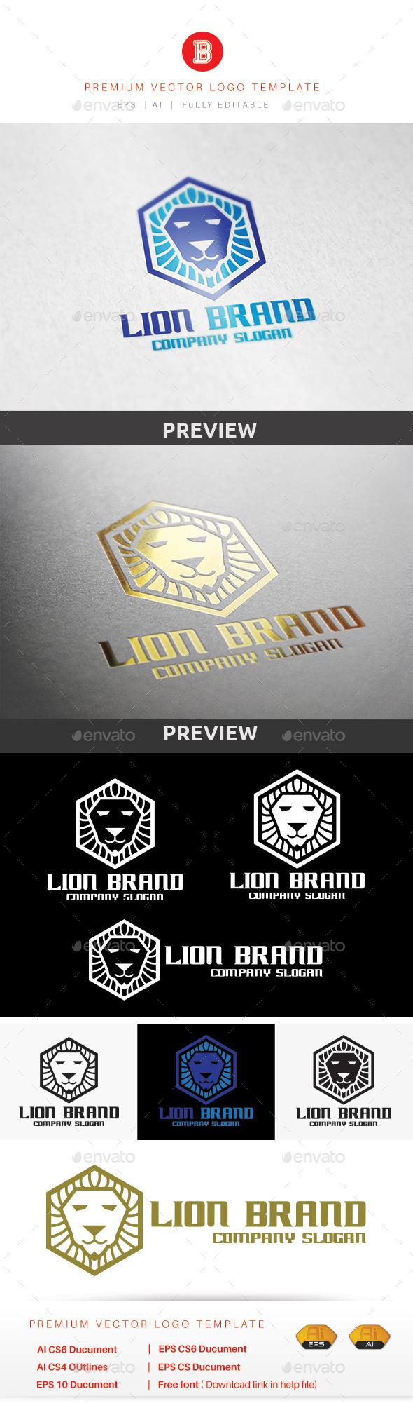 Lion Brand - Animals Logo Templates