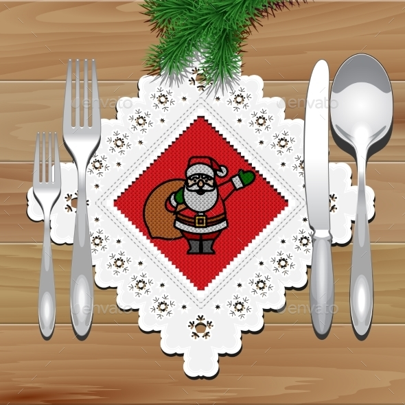 Christmas Napkin Table - Christmas Seasons/Holidays