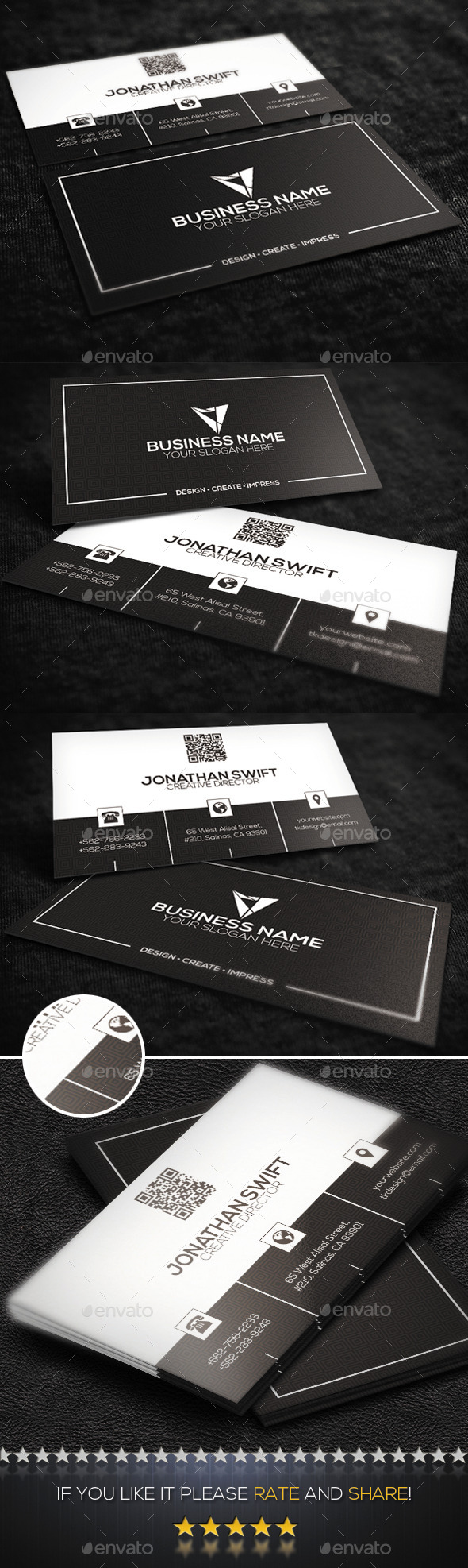 Corporate Business Card No.03 - Corporate Business Cards