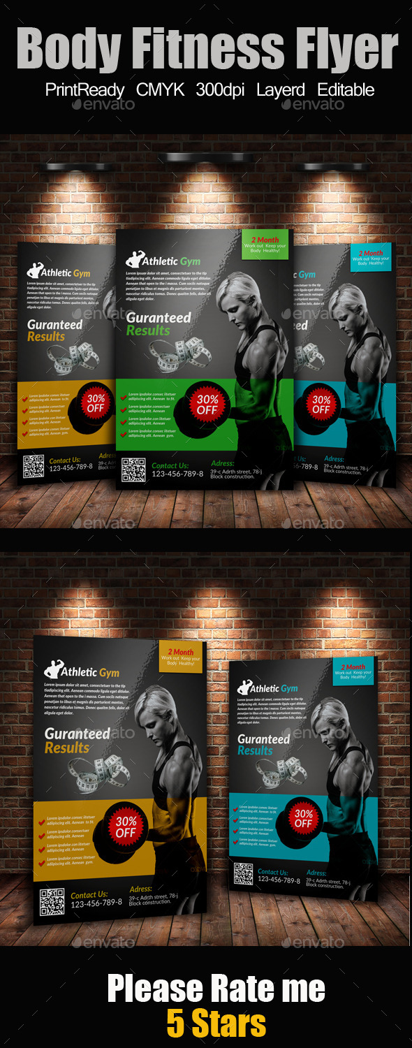 A4 Body Fitness Flyer - Corporate Flyers