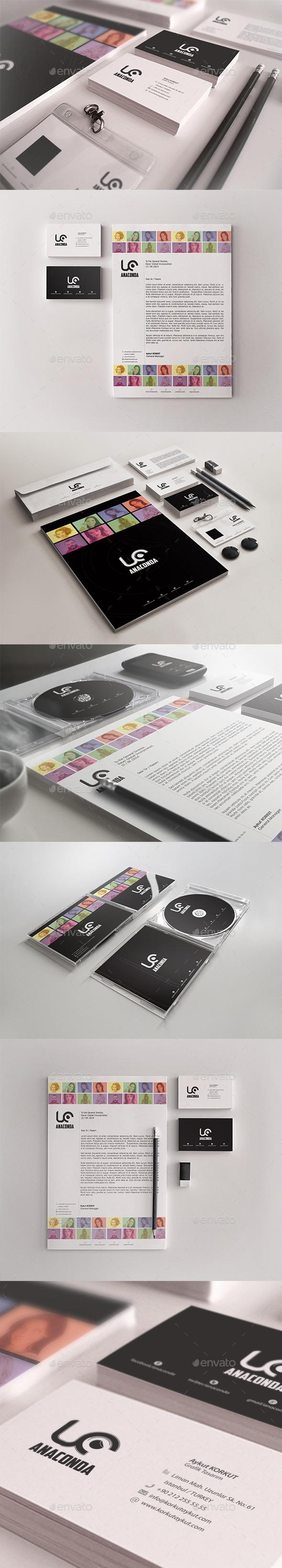 Anaconda Corporate Identity Package - Stationery Print Templates