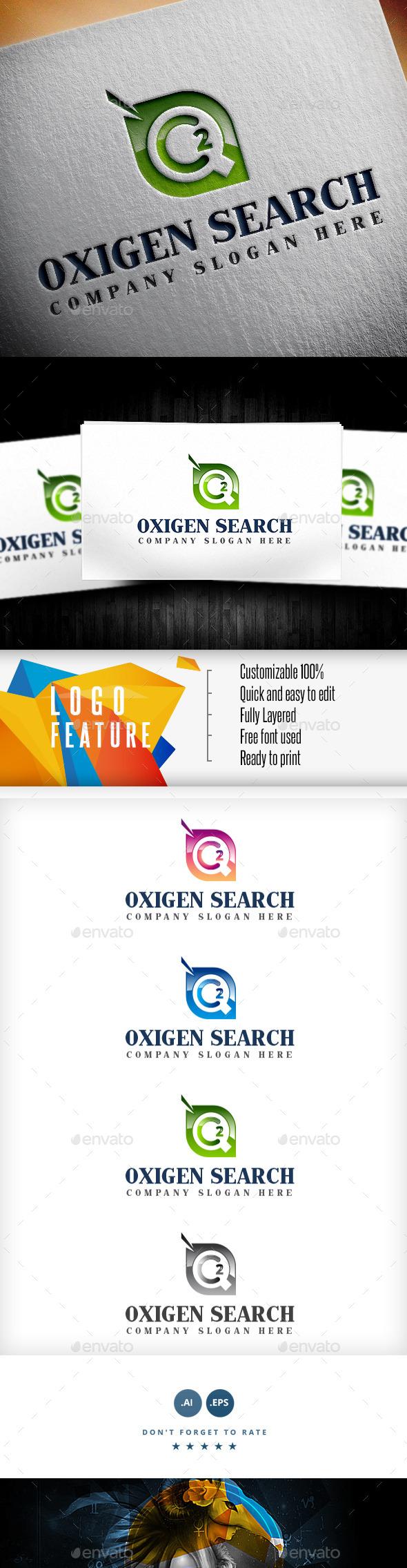 Oxygen Search Logo - Symbols Logo Templates