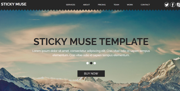 Sticky – Creative Muse Template