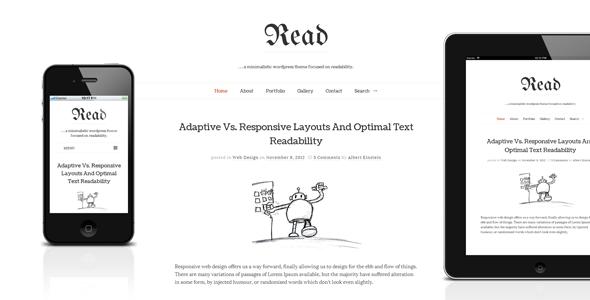 Read WP – Responsive HTML5 Minimalist Theme