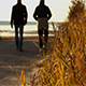 Walking On The Autumn Beach - VideoHive Item for Sale
