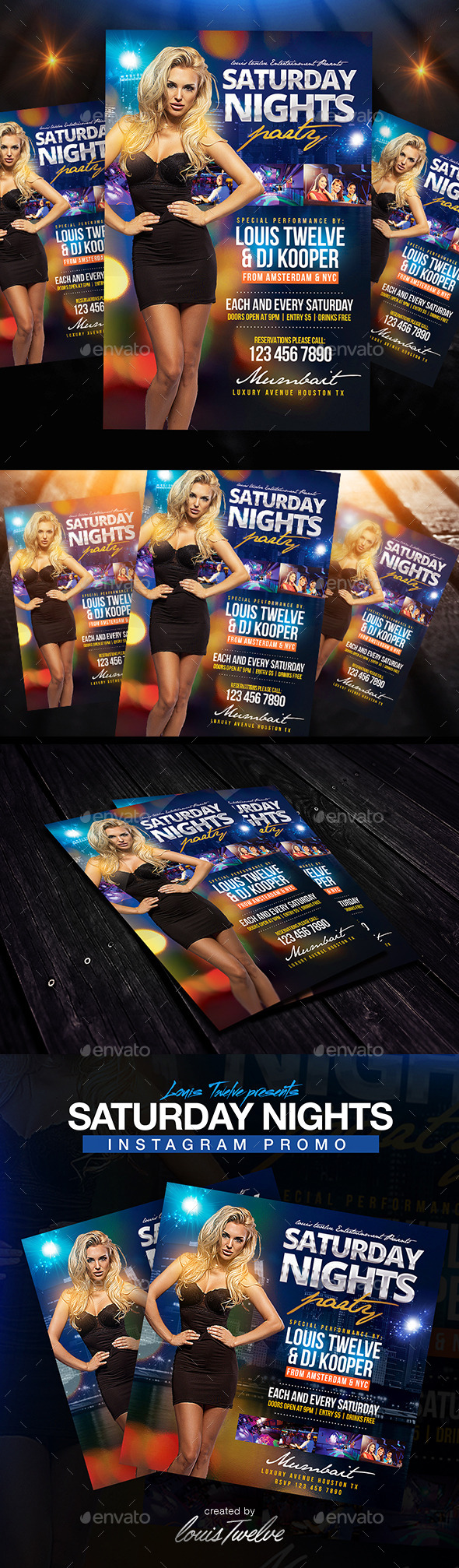 Saturday Nights Flyer + Instagram Promo - Clubs & Parties Events