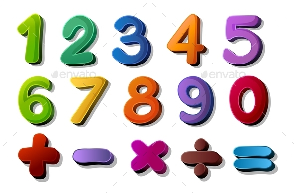 Numbers and Maths Symbols - Miscellaneous Conceptual