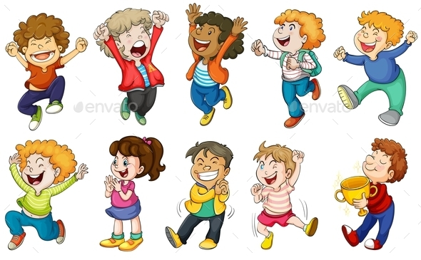 Happy Kids - People Characters