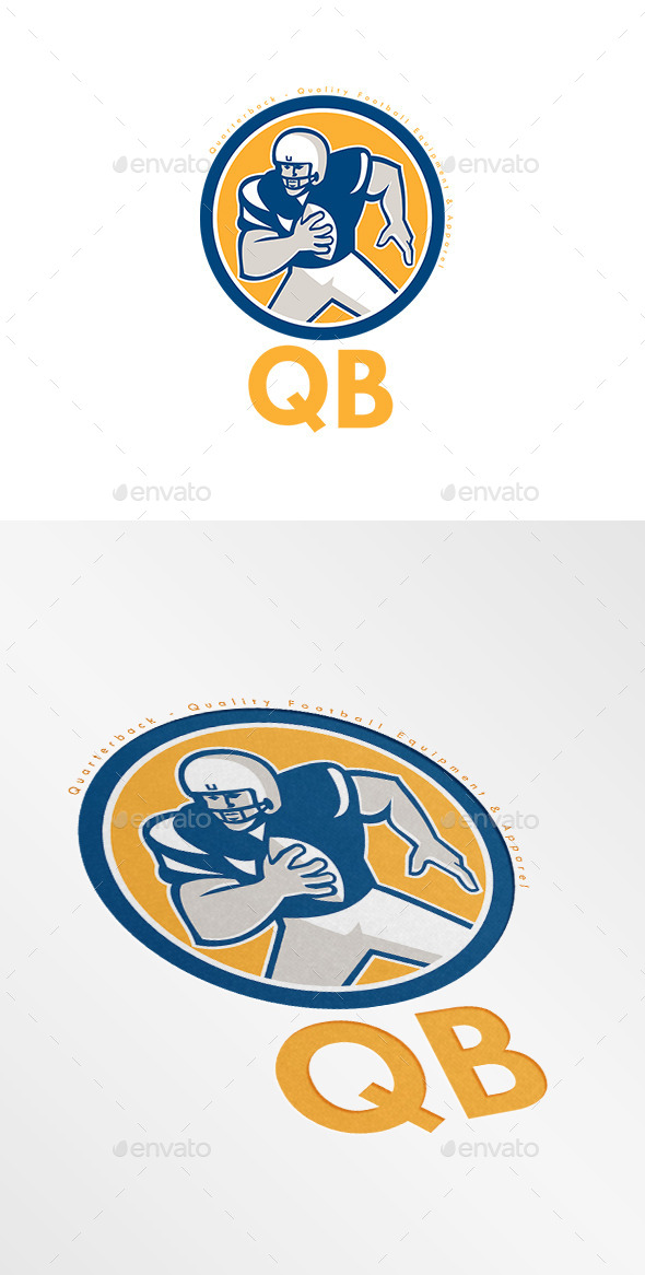 QB Quality Football Equipment Logo - Humans Logo Templates