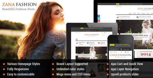 Zana Fashion – Responsive Magento Fashion Theme