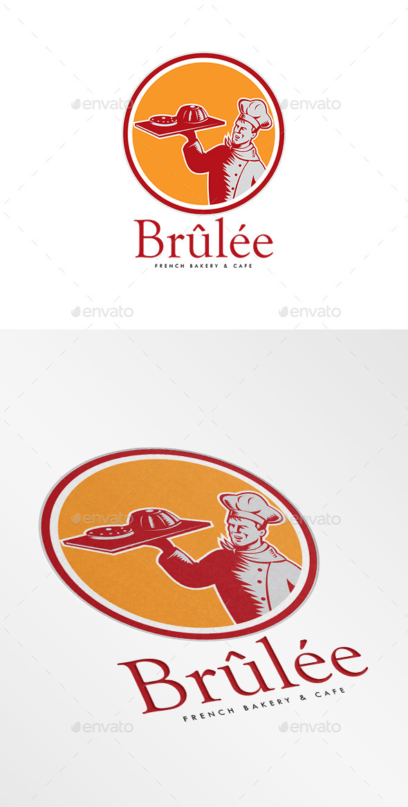 Brulee French Bakery Logo - Humans Logo Templates