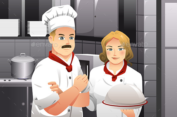 Chef holding a Plate of Food - Business Conceptual