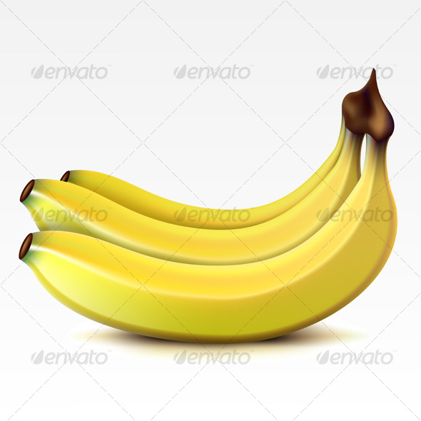 Bunch  of bananas - Food Objects