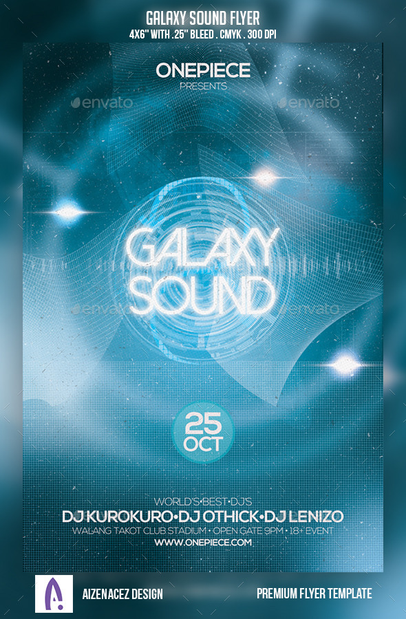 Galaxy Sound Flyer - Clubs & Parties Events