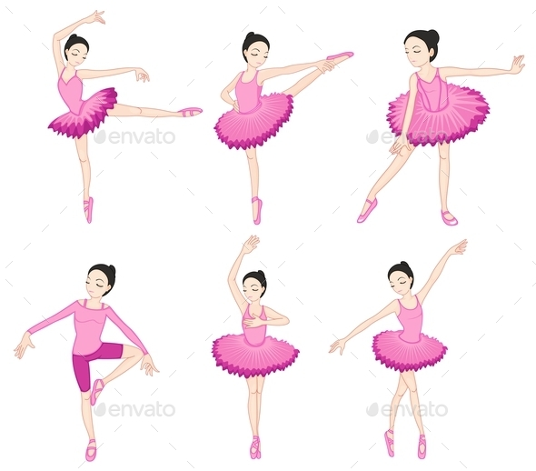 Ballerina Set - People Characters