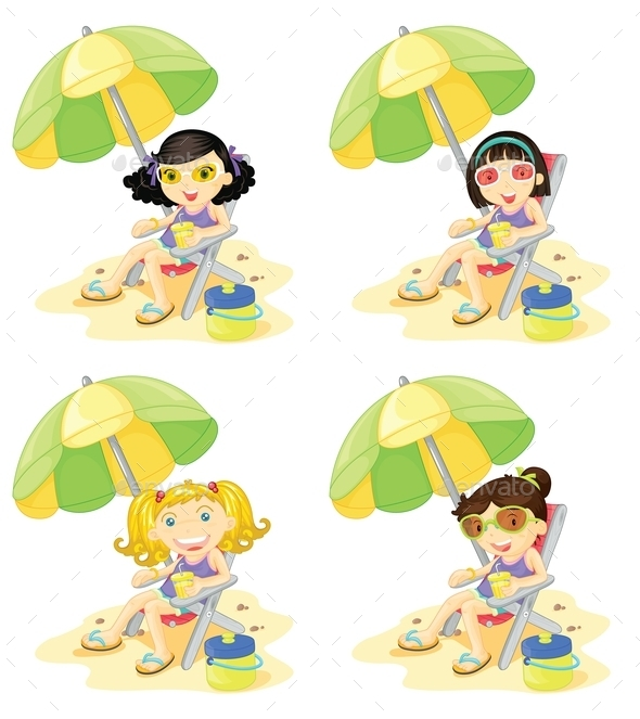 Beach Girl - People Characters