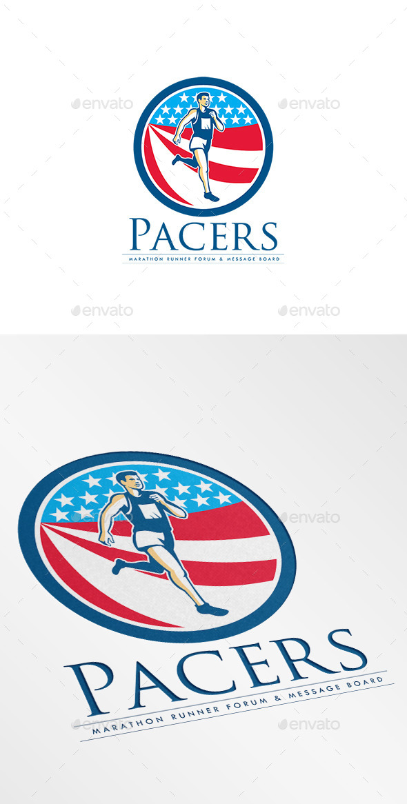 Pacers Marathon Runners Forum Logo - Humans Logo Templates