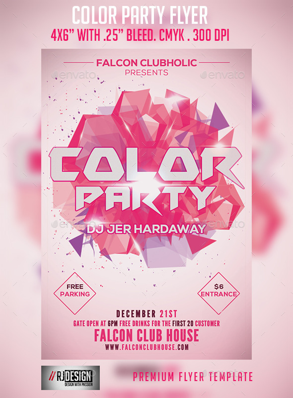 Color Party Flyer - Clubs & Parties Events