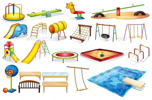 Playground Equipments - Man-made Objects Objects