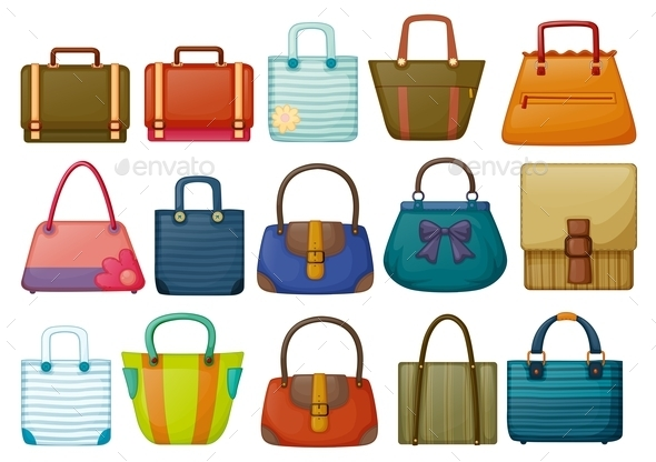 Different Bag Designs - Man-made Objects Objects
