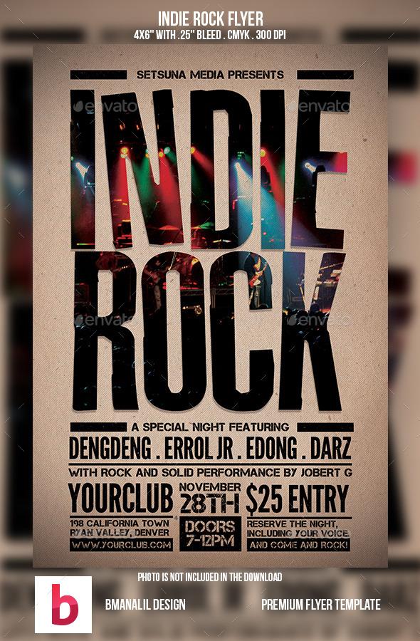 Indie Rock Flyer Vol.2 - Concerts Events