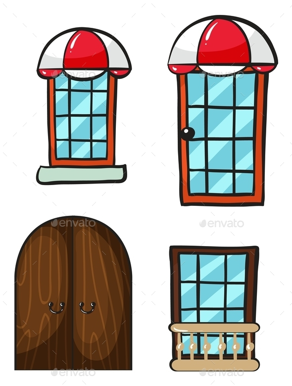 Various Windows and Doors - Buildings Objects
