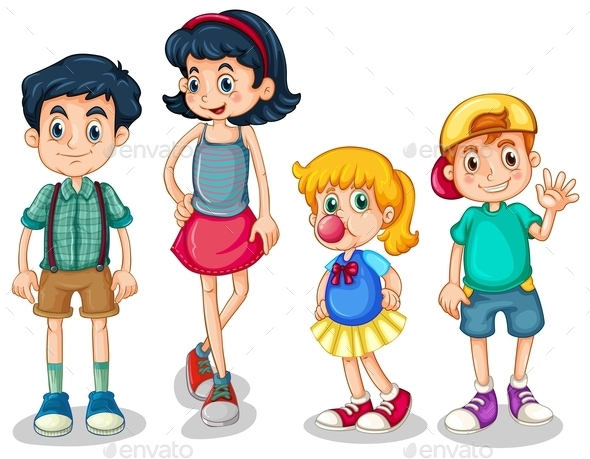 Four Siblings - People Characters