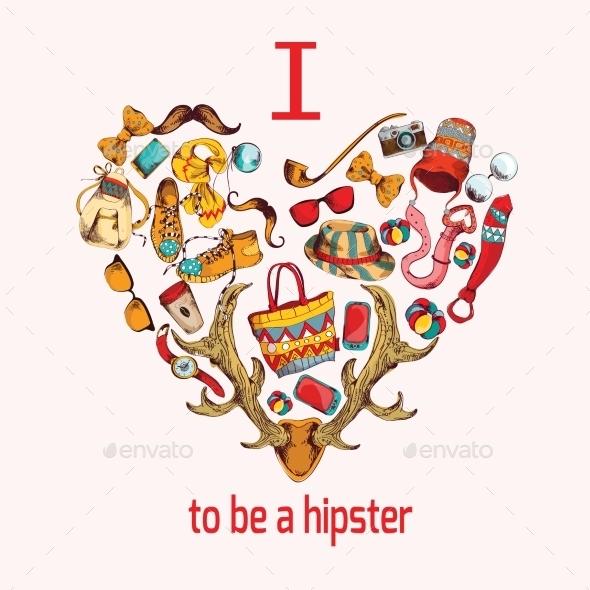 Hipster Heart - Decorative Symbols Decorative