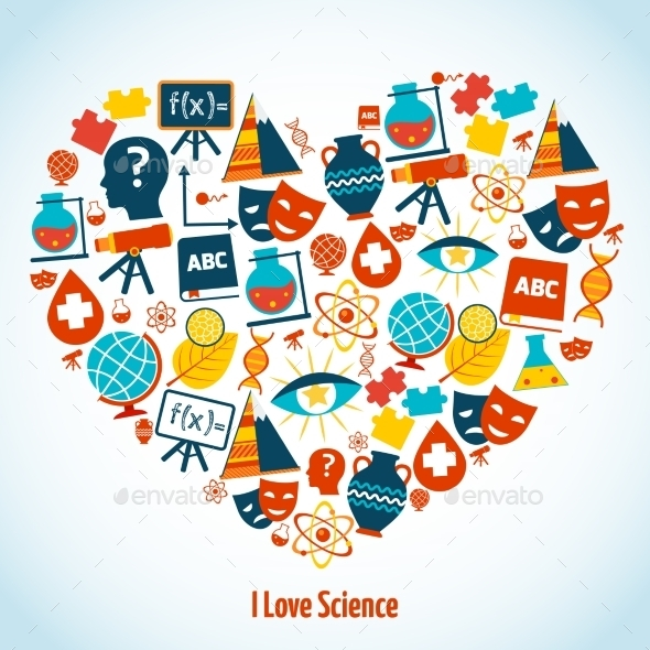 Education Heart Concept - Miscellaneous Vectors