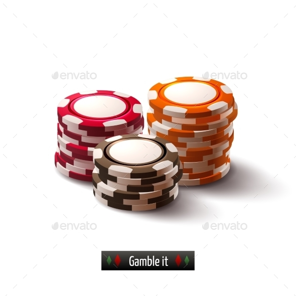 Casino Chips Isolated - Miscellaneous Vectors