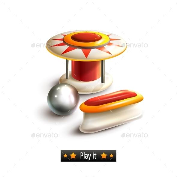Pinball Set Isolated - Miscellaneous Vectors
