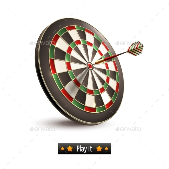 Darts Board Isolated - Miscellaneous Vectors