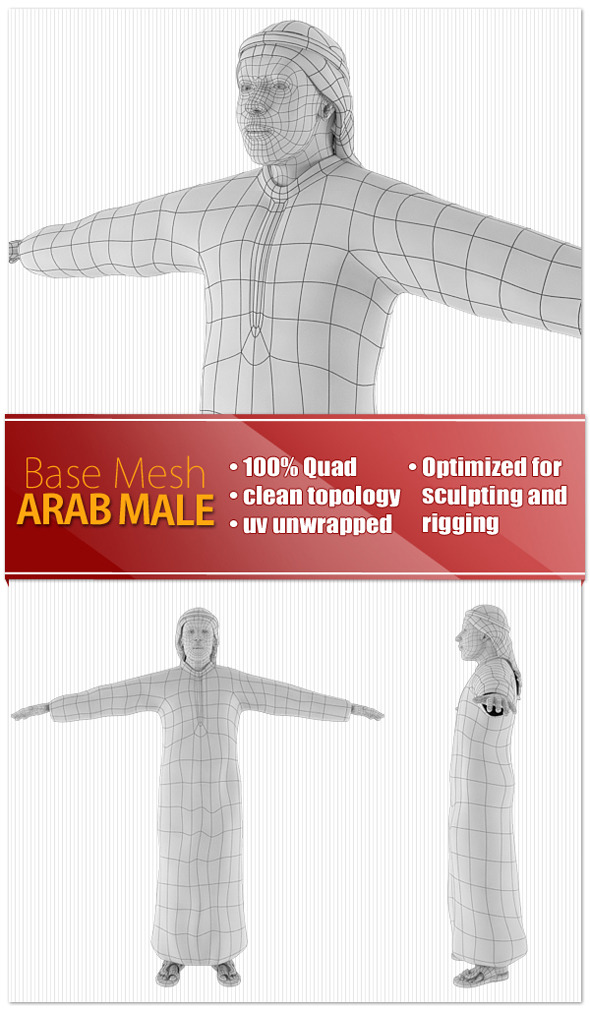 Arab Male - 3DOcean Item for Sale