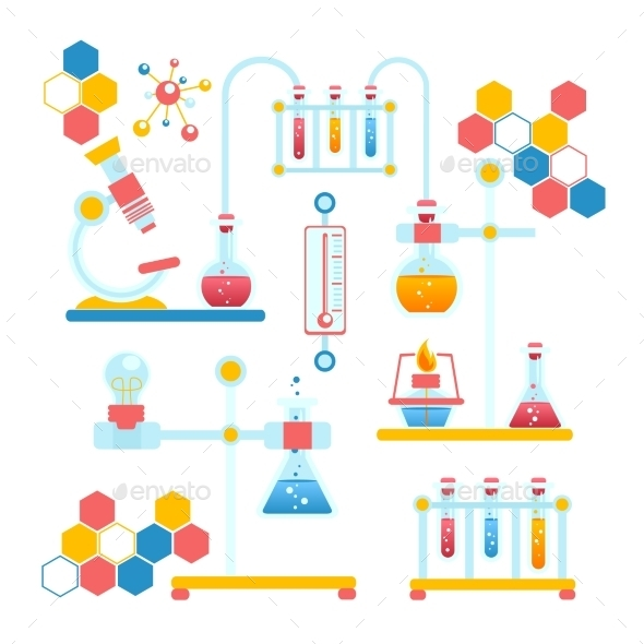 Chemistry Infographics Composition - Industries Business