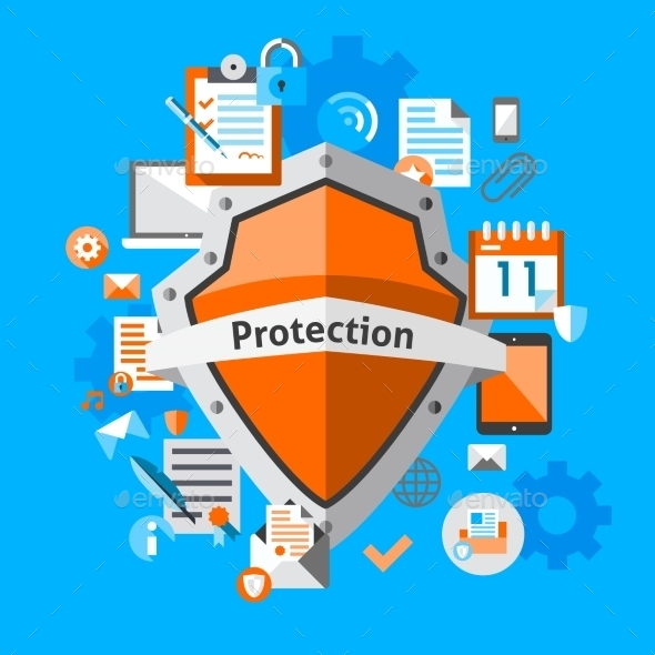 Data Protection Concept - Computers Technology