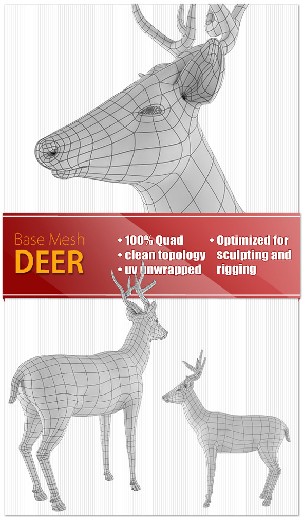 Deer - 3DOcean Item for Sale