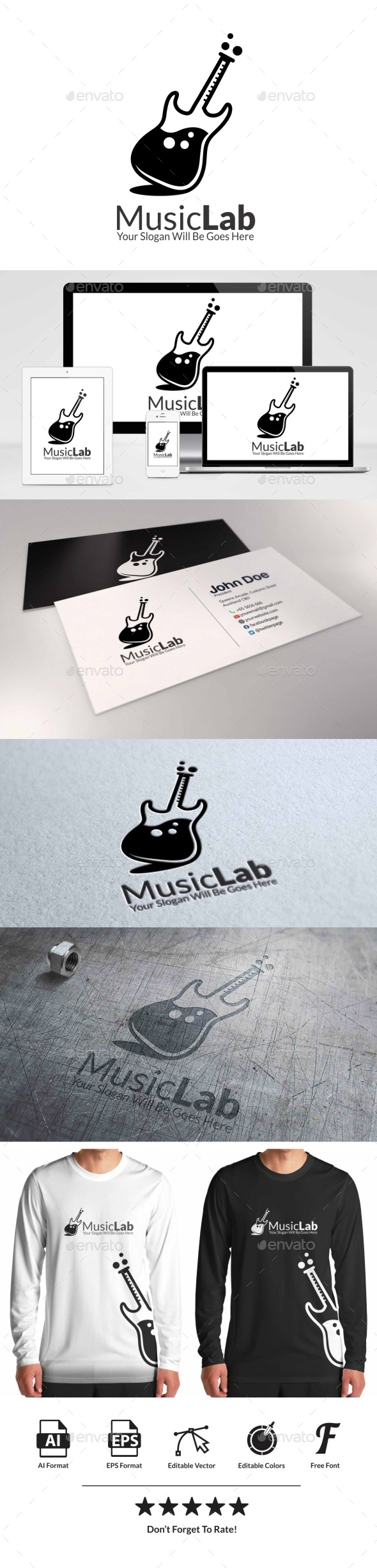 Music Lab - Objects Logo Templates