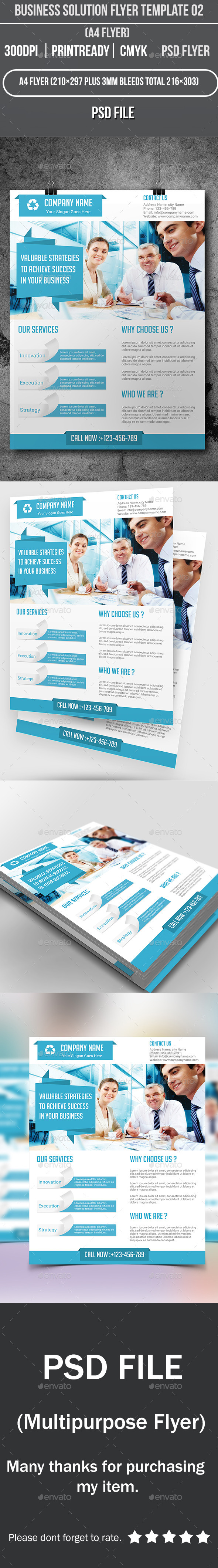 Business Solution Flyer Template 02 - Corporate Flyers