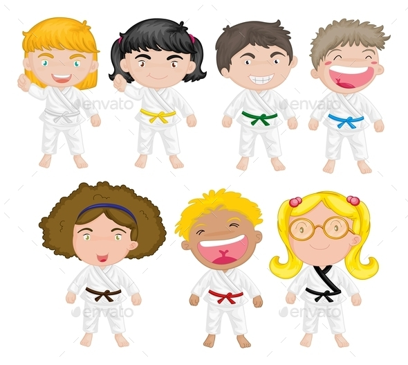 Karate Kids - People Characters
