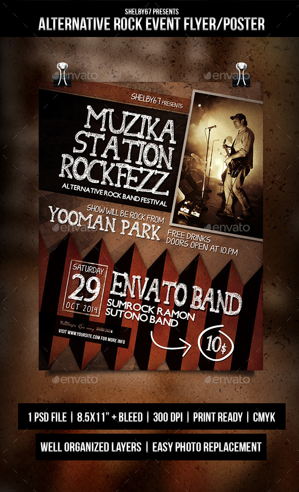 Alternative Rock Event Flyer / Poster - Events Flyers