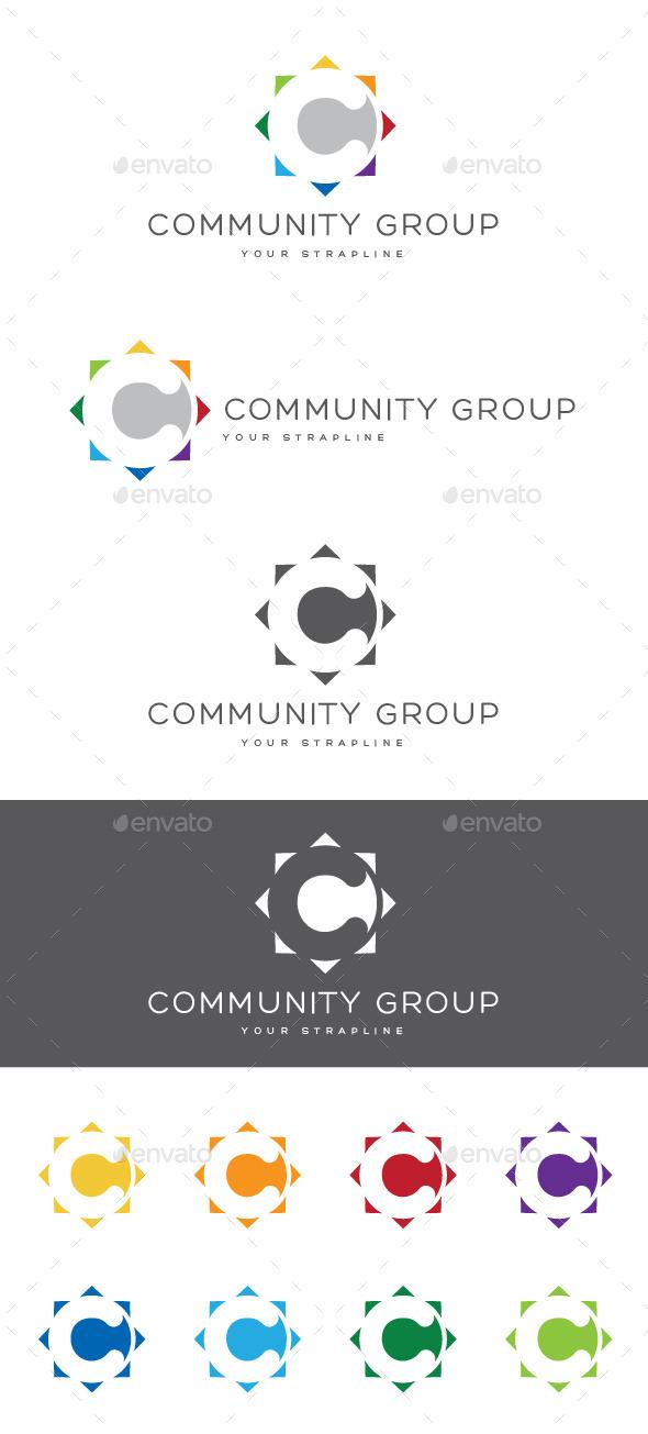 Community Group Letter C Logo - Letters Logo Templates