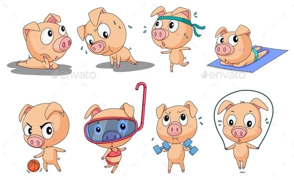 Piggies - Animals Characters
