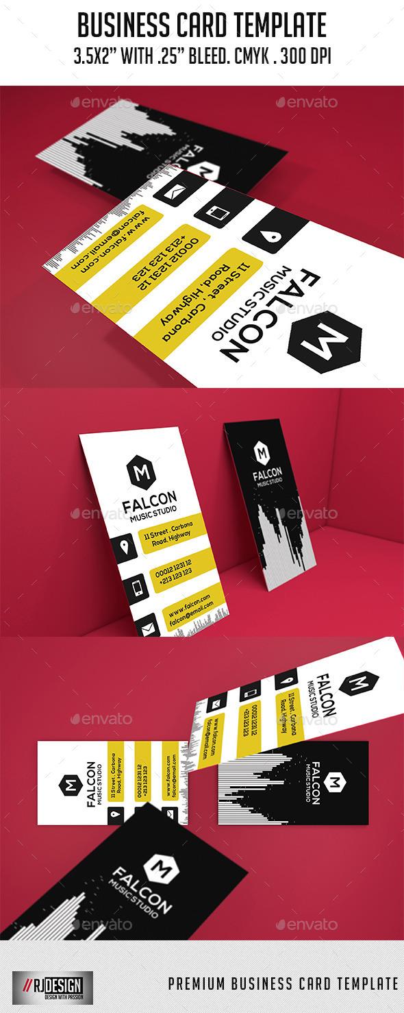 Music Studio Business Card Template - Corporate Business Cards