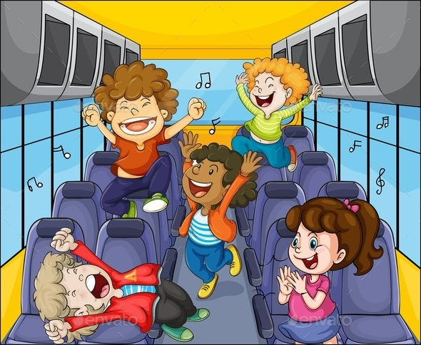 Kids in the Bus - People Characters