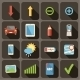 Flat icons set for Web and Mobile Applications.  - GraphicRiver Item for Sale