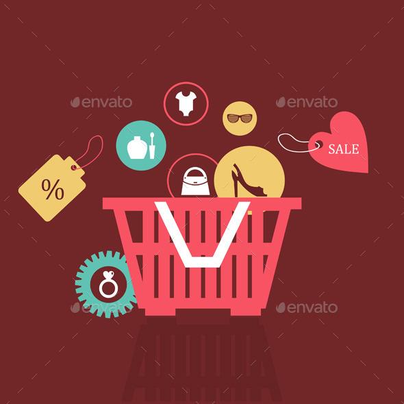 Basket of Goods - Miscellaneous Vectors
