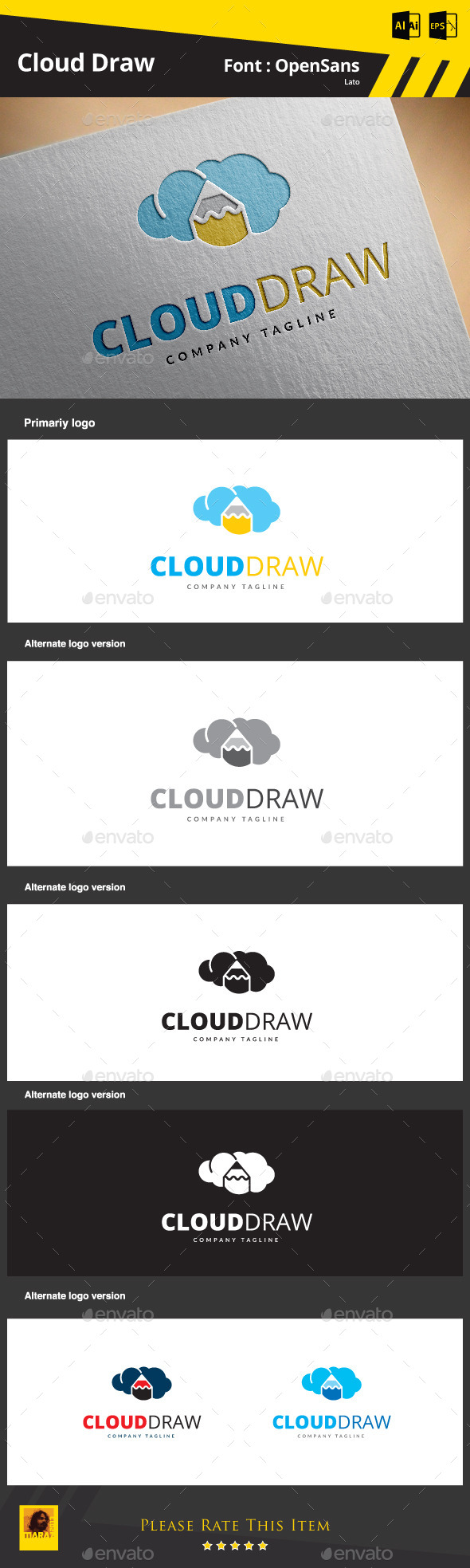 Cloud Draw - Symbols Logo Templates