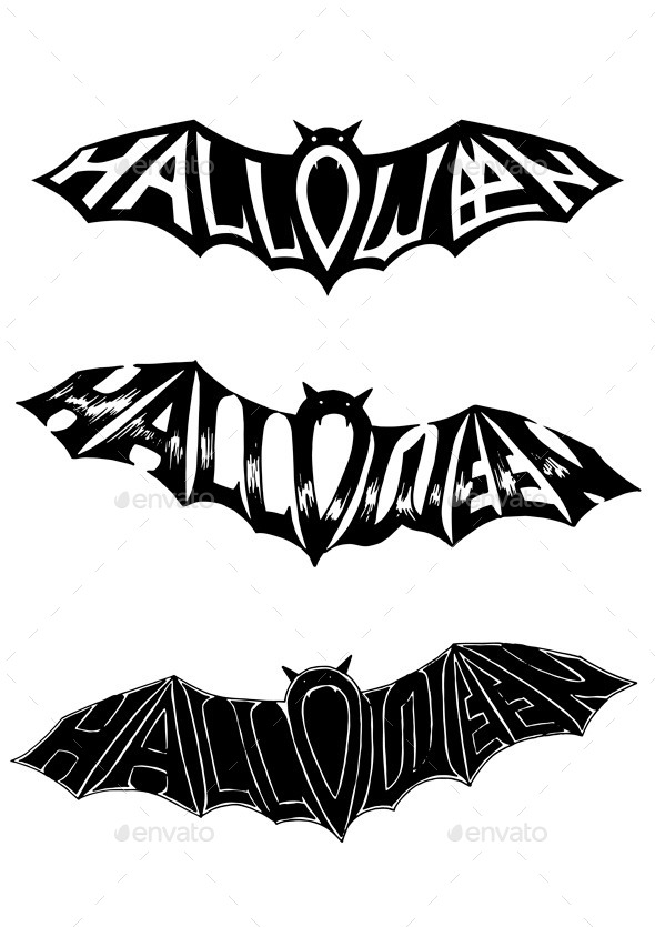Title Halloween, in the Form of a Bat.  - Halloween Seasons/Holidays