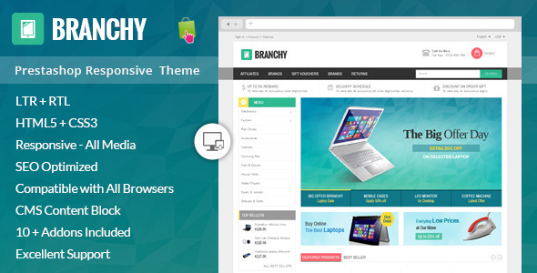 Branchy - Prestashop Responsive Theme - Shopping PrestaShop