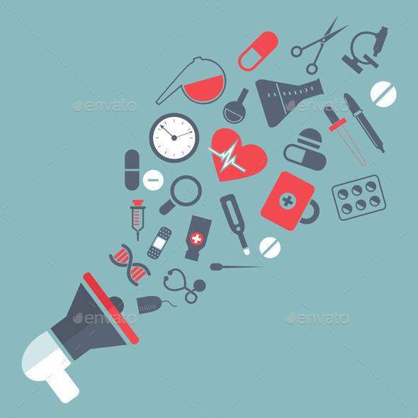 Medicine Mouthpiece - Health/Medicine Conceptual